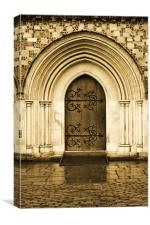 Door to The Great Hall... 22nd Feb 2011, Canvas Print