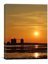 Dockyard Sunset, Canvas Print
