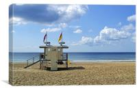 Be Safe on the Beach, Canvas Print