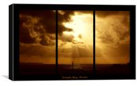 Croyde Sunset Triptych, Canvas Print