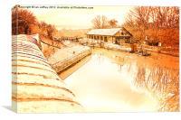 Bulbourne Dry Dock, Canvas Print