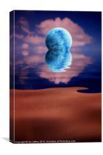 Blue Moon Rising, Canvas Print
