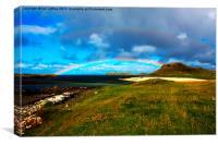 Coral Beach Rainbows, Canvas Print