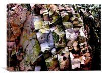 Coloured rocks, Canvas Print