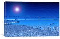 Blue Solent, Canvas Print