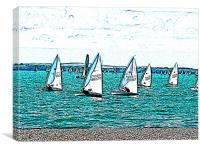 Solent sail boats, Canvas Print