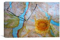 Map Reading, Canvas Print