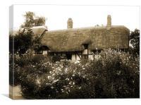 Cottage (Sepia), Canvas Print