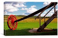 Pitstone Windmill Wheel, Canvas Print