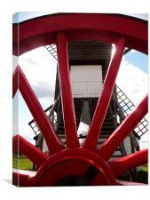 Pitstone Windmill Through Wheel, Canvas Print