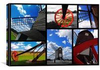 Pitstone Windmill - Collage, Canvas Print