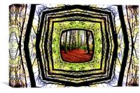 Framed Woodland, Canvas Print