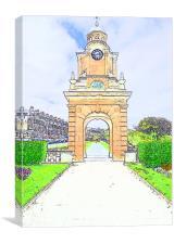 Clock Tower, Canvas Print