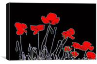 Neon Poppies, Canvas Print