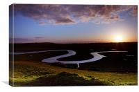 Cuckmere Haven at Sunset, Canvas Print
