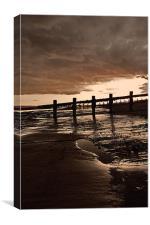 Evening walk, Canvas Print