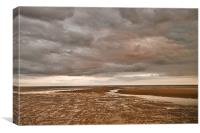 Camber Sands before sunset, Canvas Print