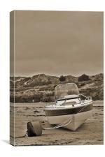 Water Ski Boat, Canvas Print