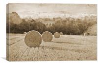 Wheat Field in Sepia tones, Canvas Print