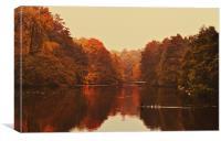 Autumn at Chidingstone, Canvas Print