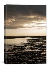 Low tide at camber sands, Canvas Print