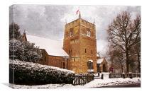 Village church, Canvas Print