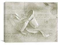 Ballet Shoes, Canvas Print