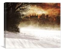 St lukes in the snow, Canvas Print