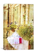 Village sale, Canvas Print
