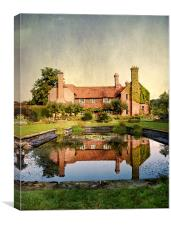 Country Manor House, Canvas Print
