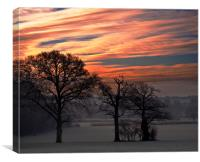 Sun Rise over Chiddingstone, Canvas Print