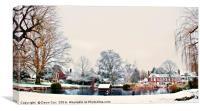 Otford in Snow, Canvas Print