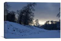 Winter sky, Canvas Print