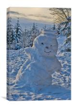 A Jolly cold Snowman, Canvas Print