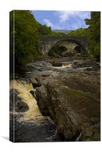 The River Moriston, Canvas Print
