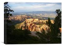 EVENING AT BRYCE CANYON, Canvas Print