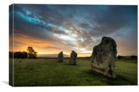 Avebury Sunrise, Canvas Print
