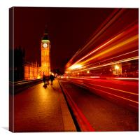 London Bus to Big Ben, Canvas Print