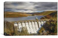 Craig Goch reservoir and dam, Canvas Print