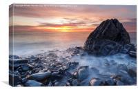 Aberystwyth rocky sunset, Canvas Print