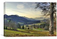 Valley Landscape, Canvas Print