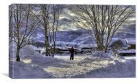 Skier's vista, Canvas Print