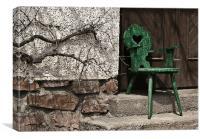 Green Chair, Canvas Print