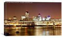 London South Bank at night, Canvas Print
