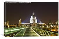 St Paul's from Millennium Bridge, London, Canvas Print