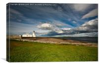 Lighthouse at Chanonry Point in Scotland, Canvas Print