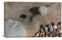 Pebbles on Hastings beach, Canvas Print