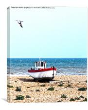 Beach Boat, Canvas Print