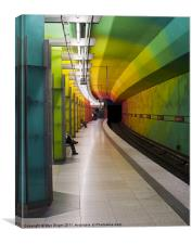 Munich U-Bahn - No.2, Canvas Print