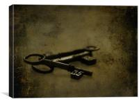 The old keys to the scary room..., Canvas Print